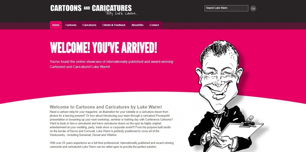 Cartoons and Caricatures by Luke Warm