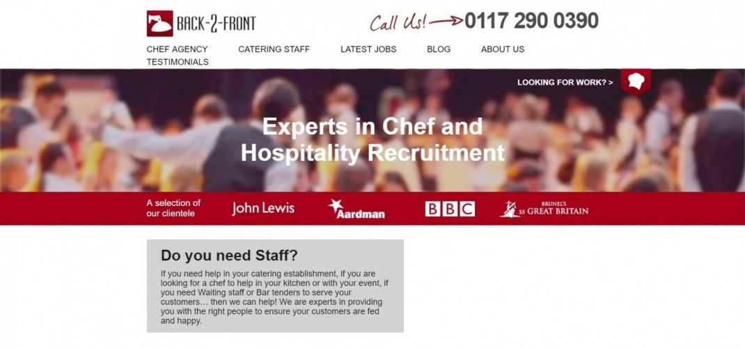 Back- 2- Front Chef & Catering Agency