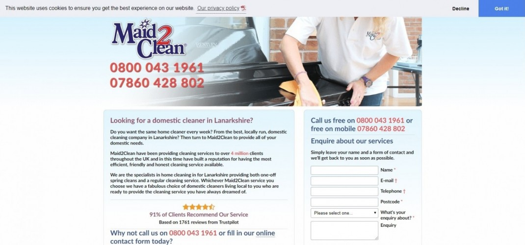 Maid2Clean North Lanarkshire