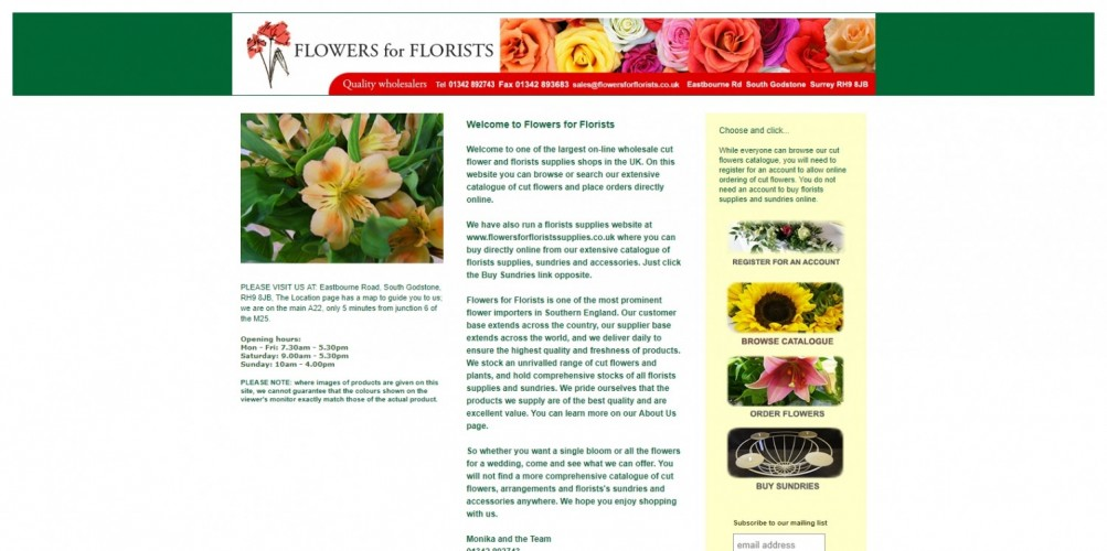 Flowers for Florists