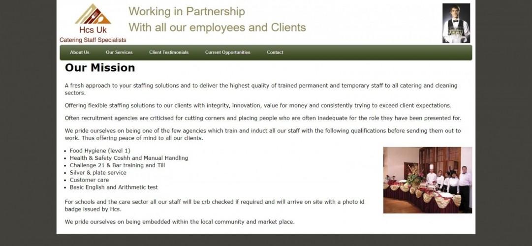 Hcs uk catering recruitment