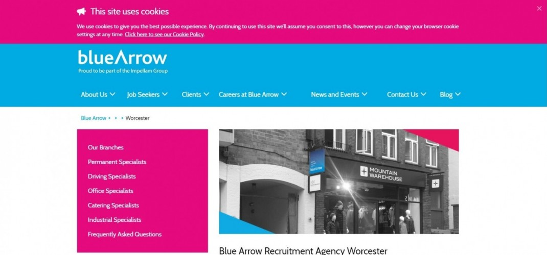 Blue Arrow Worcester