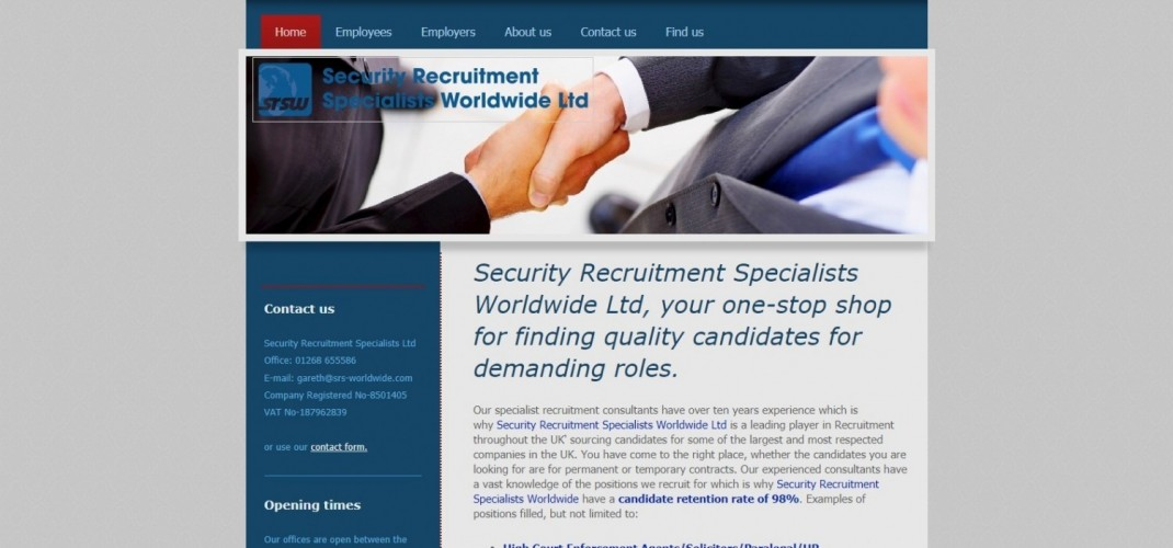 Security Recruitment Specialists Worldwide Ltd