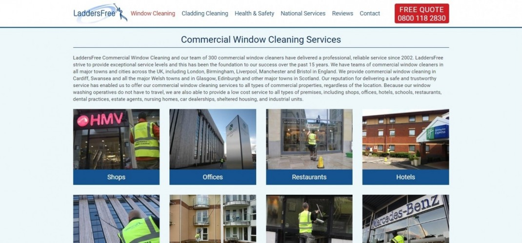 LaddersFree Commercial Window Cleaners