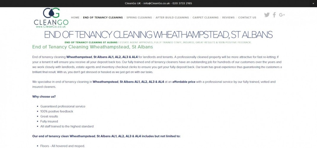 End of Tenancy Cleaning St Albans - CleanGo UK
