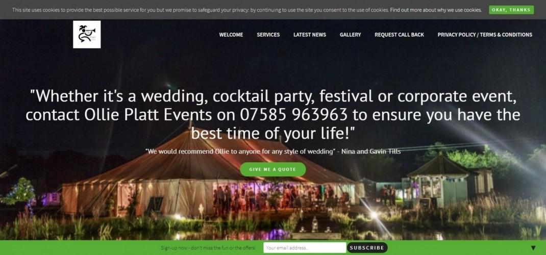 Ollie Platt Events