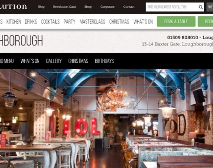 Revolution Bar - Loughborough