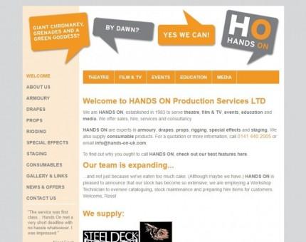 HANDS ON PRODUCTION SERVICES LTD