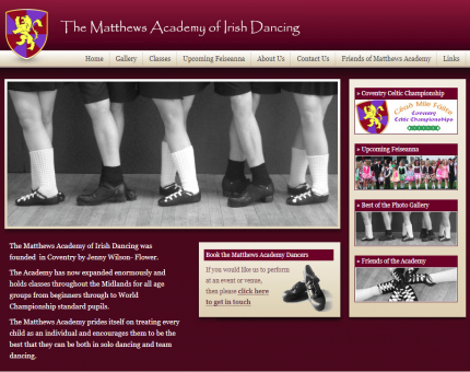The Matthews Academy Of Irish Dancing
