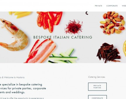 Hostaria London - Italian Bespoke Catering for Private Parties, Corporate Events & Weddings