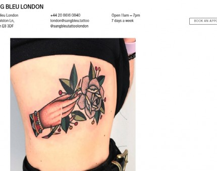 Sang Bleu Tattoo London