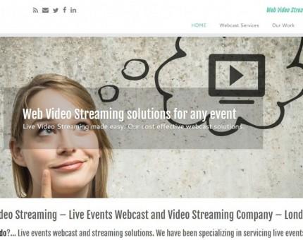 Web Video Streaming - Webcast Company