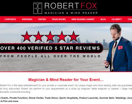 Magician Robert Fox