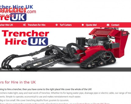Trencher Hire UK