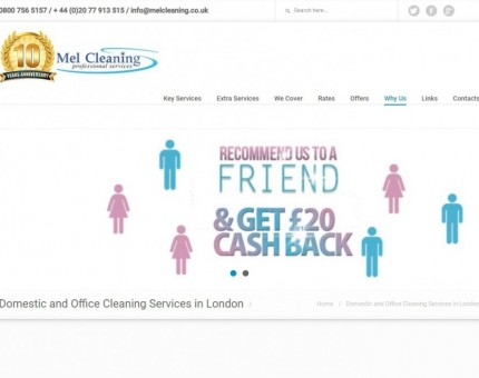 Mel Cleaning - Best End of Tenancy Offers, After Builders, Carpet Cleaning East London