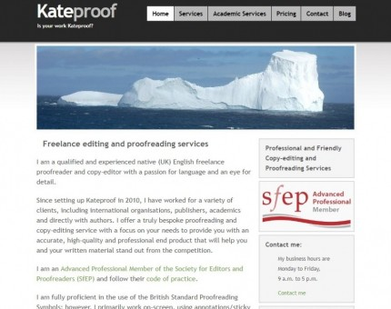 Kateproof Copy-editing and proofreading services