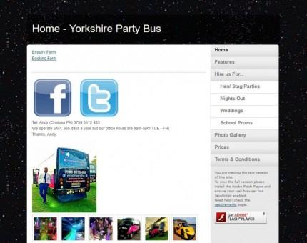 Yorkshire Party Bus limousine coach hire