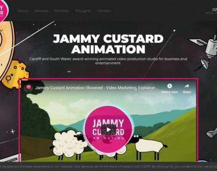 Jammy Custard Animation Cardiff
