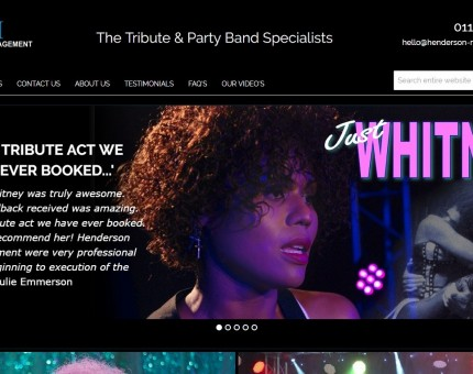 Henderson Management - The Tribute Act & Party Band Specialists