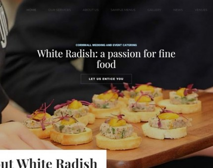 White Radish Wedding & Event Catering In Cornwall