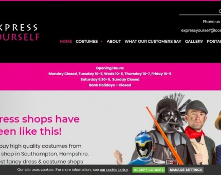 Express Yourself Costume Hire
