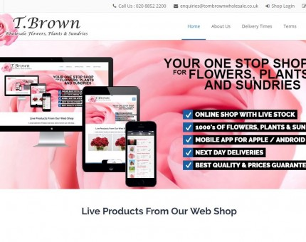 T.Brown Wholesale Flowers, Plants and Sundries