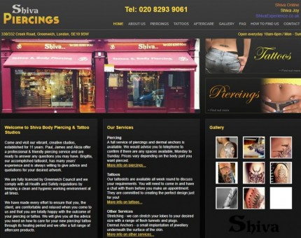 Shiva Piercings Body Piercing & Tattoo Studio