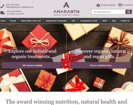 Amaranth Wellbeing Natural Health Shop and Treatments