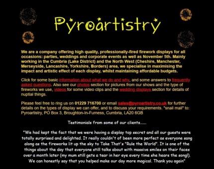 Pyroartistry