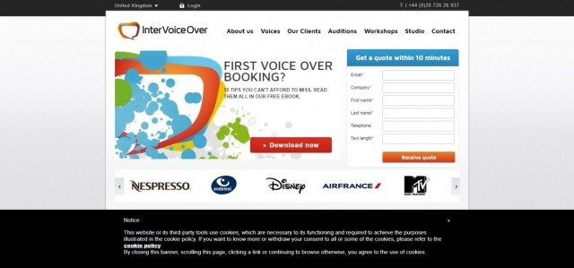 Voice agency Inter Voice Over UK