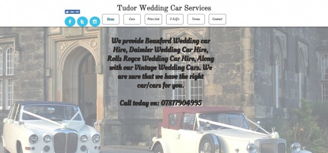 Tudor wedding car services