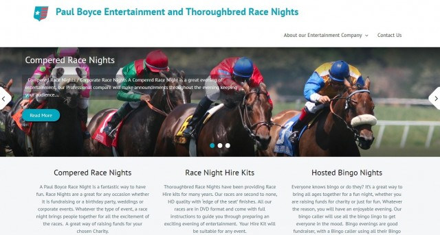 Paul Boyce Entertainment & Throughbred Race Nights