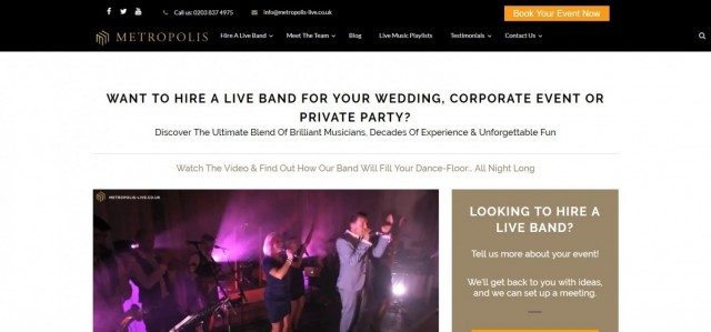 Metropolis - Live Band Hire, Event Production & PlannersPod Podcast
