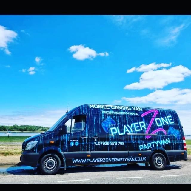 Mobile gaming party van