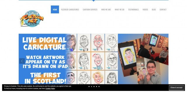 Scottish Cartoon Art Studio