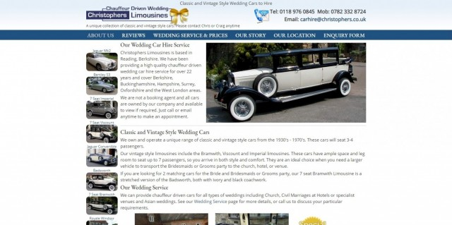 Christophers Wedding Car Hire, Reading Berkshire.