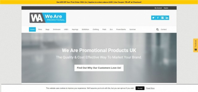 We Are Promotional Products UK